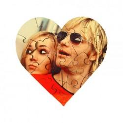 Puzzle din MDF personalizat - forma de inima