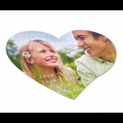 Puzzle personalizat - forma de inima
