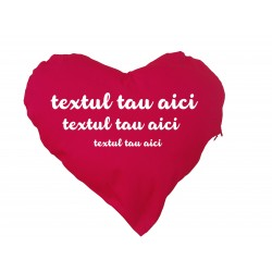 Perna inima  personalizabila rosie