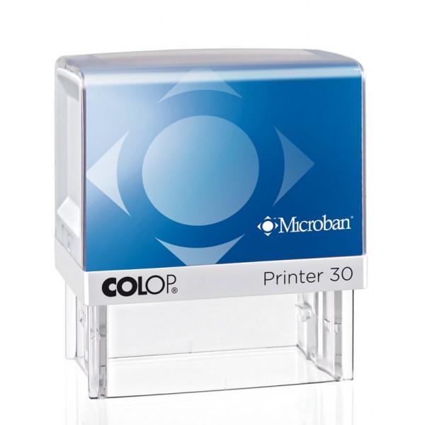 Stampila colop Printer 30 Microban 18 x 47 mm