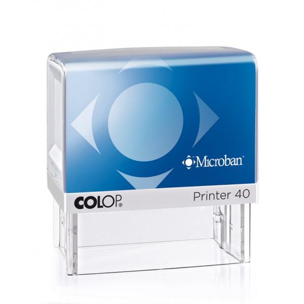 Stampila colop Printer 40 Microban 23 x 59 mm